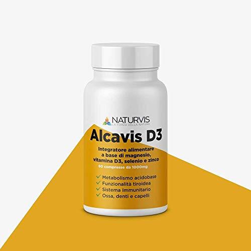 Integratore alimentare a base di Magnesio, Vitamina D, Selenio e Zinco - Alcavis D3