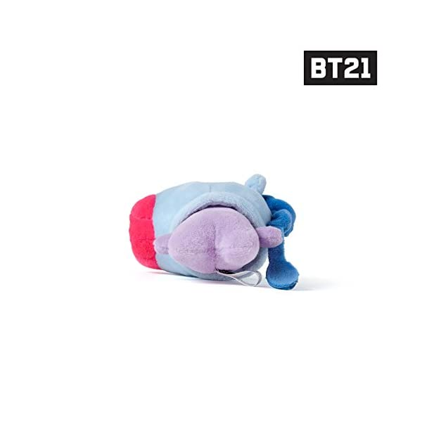 BT21 MANG Character Soft Plush Stuffed Animal Keychain Key Ring Bag Charm, 12 cm, Blue/Purple