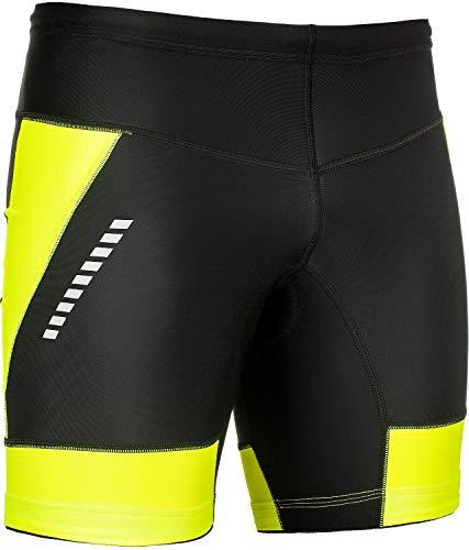STANTEKS Radhose Kurz Fahrradhose Shorts ohne Träger Radlerhose mit Bike Pro-Air 3D Coolmax Sitzpolster Herren Damen Unisex Atmungsaktiv Reflektoren Thermo Leggings SR0070 (Schwarz-grün, M)