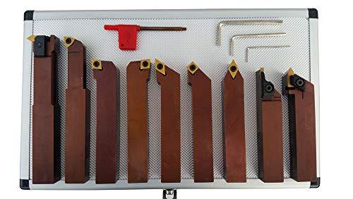 PAULIMOT Drehmeißel-Set mit Wendeplatten, 20 mm, 9-teilig
