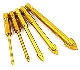 Hycy® 5 Unids 3/4/6/8 / 10Mm bits De Taladro De Vidrio De Azulejo Cerámico 1/4'Conjunto De Vástago Hexagonal para Portabrocas bit bit
