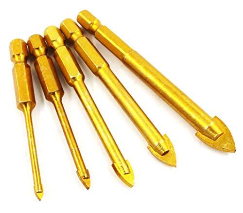 Hycy® 5 Unids 3/4/6/8 / 10Mm bits De Taladro De Vidrio De