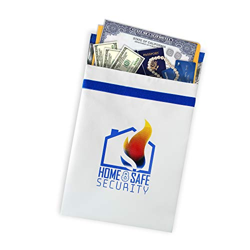 HSS XL Fireproof Safe Document Bag (16x12). NON-ITCHY | Triple Layer | Zipper Closure | Silicone Coated | Fire Resistant Envelope Pouch for Money and Valuables