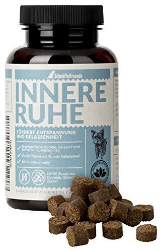 Schnüffelfreunde Innere Ruhe I Ayuda Calmante para Perros - Complemento Alimenticio para el Perro Miedoso para Calmar, Combatir el Miedo, Alivia el Estrés y la Ansiedad y para más Tranquilidad (150g)