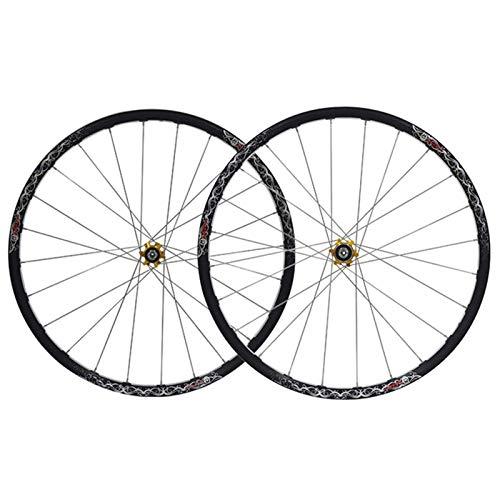 TYXTYX Ejes de liberación rápida Accesorio para Bicicleta Rueda de Ciclismo MTB Juego de Ruedas de Bicicleta de 26 Pulgadas Llantas CNC 559x20 Freno de Disco Ruedas de Bicicleta de montaña Cubo de