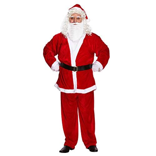 Mens Adult Deluxe Santa Suit Fancy Dress Costume Plus Size XXL