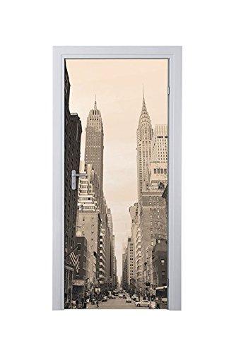 MELINERA® Tür Dekofolie (Motiv: New York ) 97,5 x 204 cm