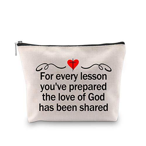 G2TUP Sunday School Teacher Gift Christian Teacher Appreciation Cosmetic Bag For Every Lesson You've Prepared the Love of God Has Been Shared (Sunday School Teacher)