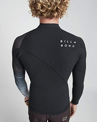 Billabong Heren 1mm Pro Series LS Neo jas zwart Fade - Easy Stretch - Heren wetsuit jas - Airlite Stretch Neopreen