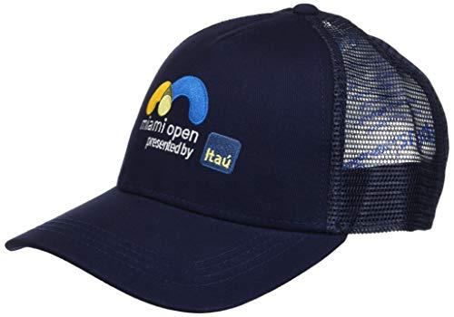 Lacoste Men's Sport Miami Open Edition Trucker Cap, Navy Blue, M