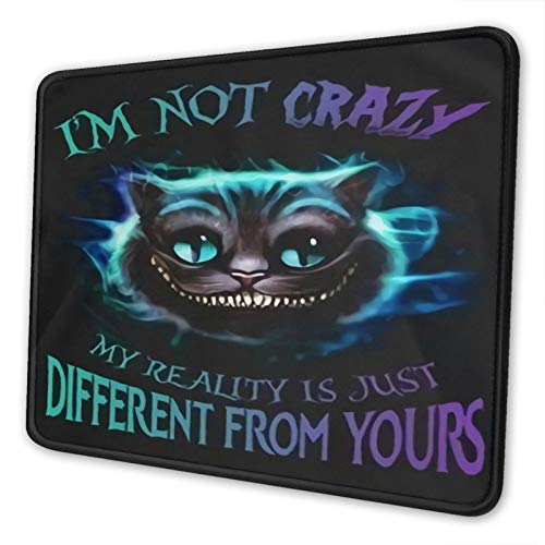 Cheshire Cat Smile Mouse Pad Gaming Anime 3D Custom Design Office Rubber Base Personalized Mouse Mat Alice in Wonder-Land Mouse Pad for Computer/Laptop 7×8.6in