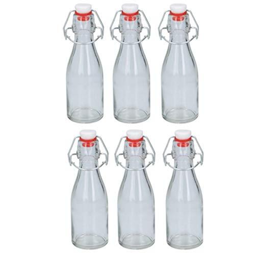 Botellas de cristal herméticas de 150 ml, 6 botellas de cristal con...