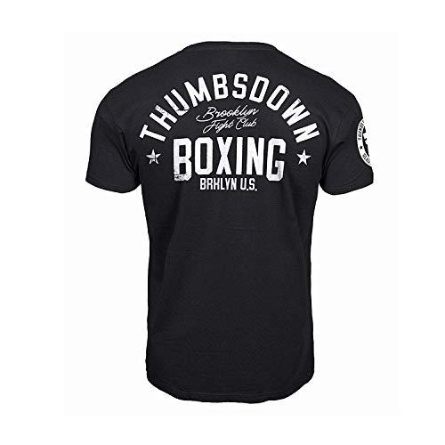 Thumbsdown Thumbs Down Boxeo Camiseta Brooklyn Fight Club MMA. Gimnasio Entrenamiento. Marcial Artes Informal - Negro, X-Large