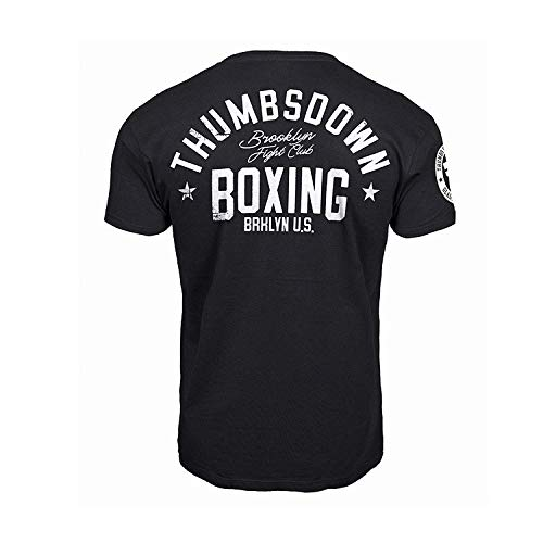 Thumbs Down Boxing T-Shirt. Brooklyn Fight Club. MMA. Kampfkünste. Gym. Training. Martial Arts. Casual (Größe Medium)