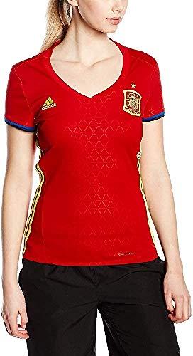 1ª Equipación Federación Española de Fútbol 2016/2017 - Camiseta oficial adidas para mujer, talla L