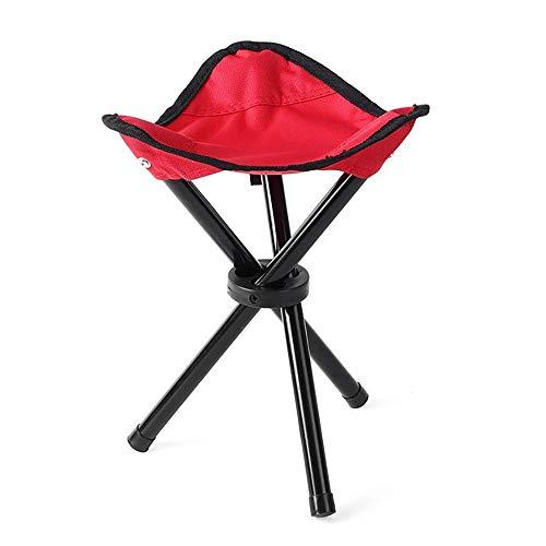 LHQ-HQ Al Aire Libre Tres Patas del Taburete Portable de la Pesca Silla Plegable for la Playa Camping Park Picnic (Tamaño: 21 * 30 cm)
