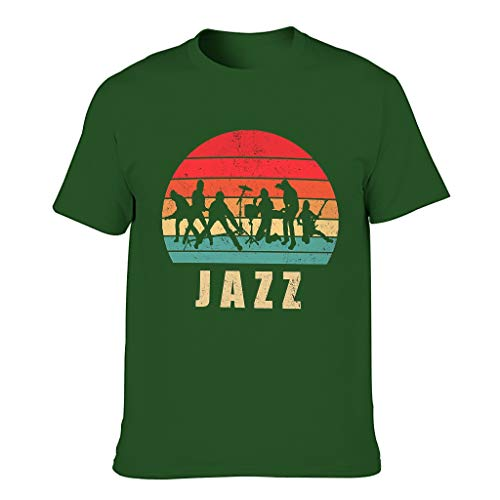FFanClassic Camiseta Hombre Algodón Jazz Popular Transpirable - Diseño Tops