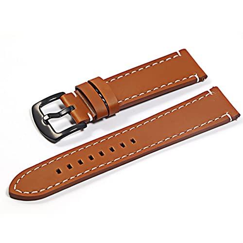 Overhil1s Uhrenarmbänder Leder, Reloj de Cuero Pulsera Brazalete Black Brown Reloj Correa for Mujeres Hombres 20mm 22mm Banda de muñeca Elegant und stilvoll