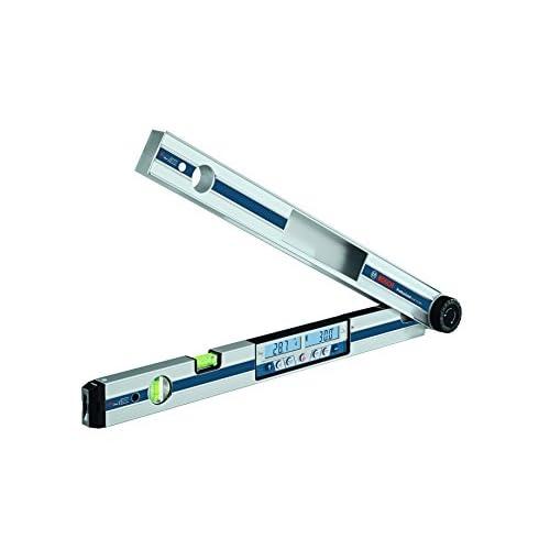 Bosch Professional Goniometro e Inclinometro GAM 270 MFL (puntatore laser, calcolo degli angoli obliqui, campo di misura: 0 - 270º, lunghezza: 60 cm)