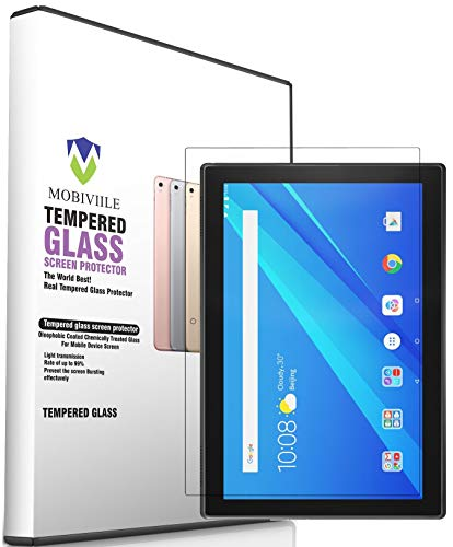 MOBIVIILE® 2.5D Curved 0.3mm Flexible Gorilla Tempered Glass Screen Protector Shield for Lenovo Tab 4 10 (TB-X304L) [10.1 Inch Screen Size] (Pack of 1)/(not for Lenovo tab 4 10 Plus)