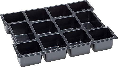 L-BOXX 1000010126 Kleinteileeinsatz 12 Mulden 102, Grau