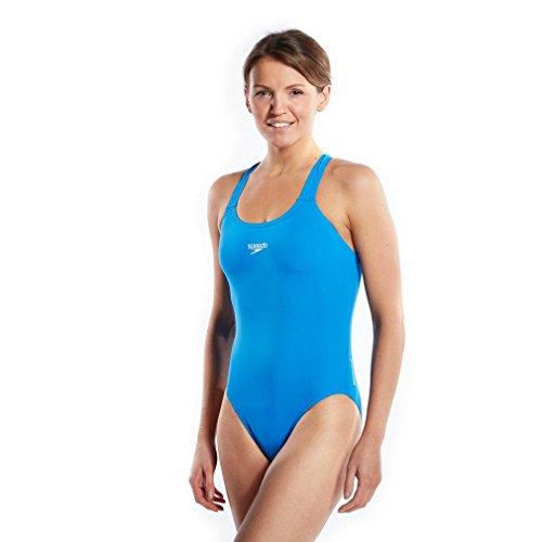 Speedo Essential Endurance Plus Medalist, Costume Da Bagno, Donna, Blu, IT 42