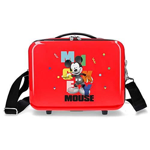 Disney Mickey´S Party Neceser Adaptable Rojo 29x21x15 cms Rígida ABS 9,14L