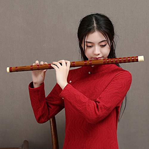 LYQZ Portátil Flauta de bambú Amargo Flauta Profesional Antigua Colección de Flauta Senior Dizi Chino Clarinet (C, D, E, F Tune) (Color : F)