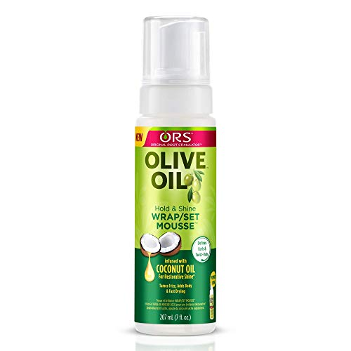 ORS Olive Oil Hold and Shine WrapSet Mousse 7 Ounce (Pack of 2)