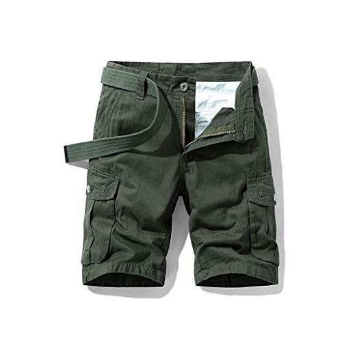 FRAUIT Pantaloni Uomo Corti Bermuda Pantaloni Ragazzo Cargo con Tasche Laterali Pantaloncini Tasconi Shorts Elegante Slim Fit Pantalone Uomini Estivo Corto Tronchi