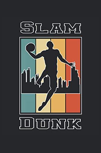 Basketball Slam Dunk: Cuaderno de rayas cuaderno de escritura diario ToDo libro de tareas libro de cuentos (15,24 x 22,86 cm; ca. A5) 120 páginas. ... dunk slamdunk equipo de baloncesto.