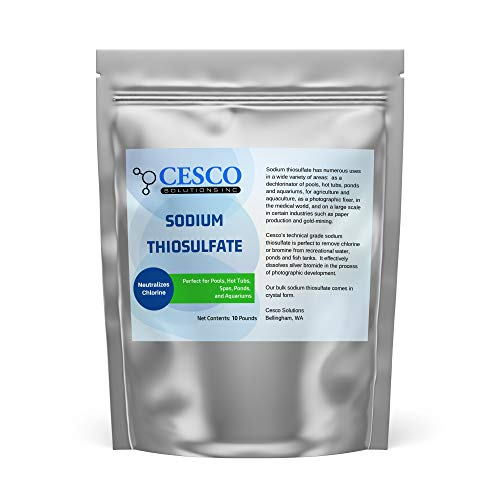 Price comparison product image Pool Dechlorinator Sodium Thiosulfate Pentahydrate 10 lbs by Cesco Solutions - Premium Chlorine Neutralizer for Pools,  Aquarium,  Pond - Technical-Grade Chlorine Remover for Hot Tubs - Bulk Package