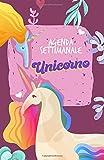 Agenda Settimanale Unicorno A5 Tascabile: Weekly Planner in italiano, life organizer da borsa, 12 mesi, 54 settimane
