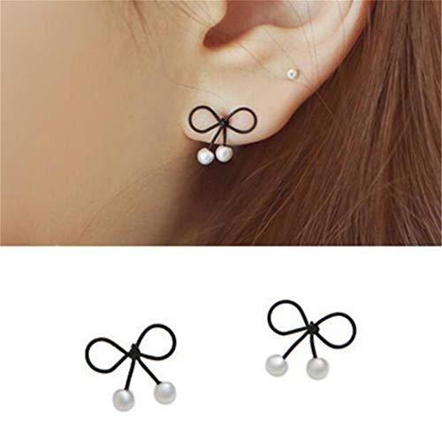 Eleusine 1 paire de boucles d'oreilles arc belles boucles d'oreilles perle cadeau d'anniversaire pour les femmes