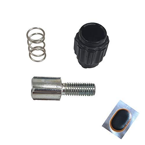 maxxi4you Angebot-Set / 1 x Shimano Fahrrad Schaltung Schaltzug Einstellschraube RD-A551 Y-51J98020 Schwarz/Silber inkl. 1 Schlauchflicken