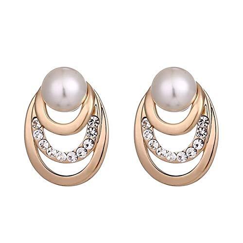 QYTSTORE Moda Simple y Exquisita joyería, tamaño: 2 * 1.3 cm, Temperamento Elegante, Pendientes de imitación de imitación de Perlas para Mujeres Exquisito, de Moda