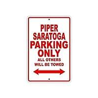 アルミメタルノベルティサイン、パイパーサラトガ駐車場のみ、壁サイン面白い鉄絵ヴィンテージメタルプラーク装飾警告サイン吊りアートワークポスター用バーパーク