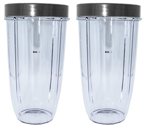 Blendin Replacement Parts, Compatible with Nutribullet 600W and 900W Blender Juicer (2 Colossal 2 Lip Rings)