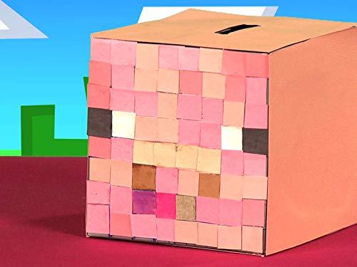 Minecraft Piggy Bank DIY