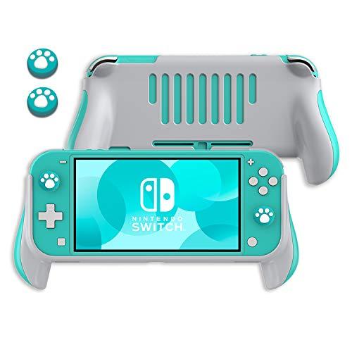Griff Halterung für Nintendo Switch Lite 2019, Switch Lite Hand Grips & Cat Claw Design Thumb Grip Kappen Nintendo Switch Lite Ergonomischer Handheld Halter -Blau