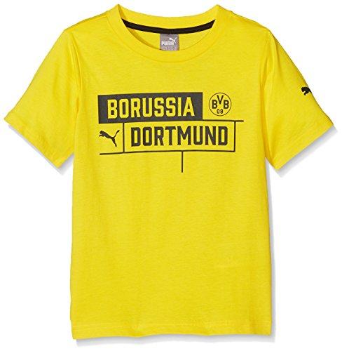 Puma Kinder BVB Borussia Tee T-Shirt, Cyber Yellow, 176