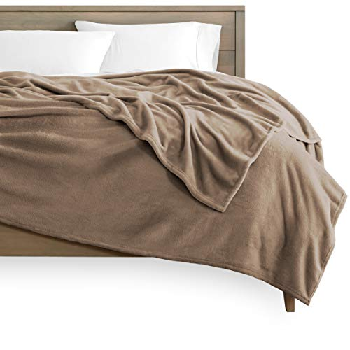 Bare Home Kids Microplush Fleece Blanket - Twin/Twin Extra Long - Ultra-Soft Velvet - Luxurious Fuzzy Fleece Fur - Cozy Lightweight - Easy Care - All Season Premium Bed Blanket (Twin/Twin XL, Taupe)