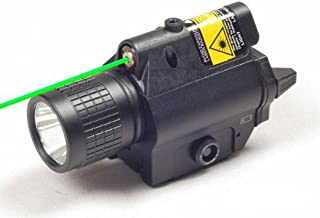 Ade Advanced Optics Tactical Green Laser Sight with 200 lm LED Flashlight & Built in RIS Rail Mounts