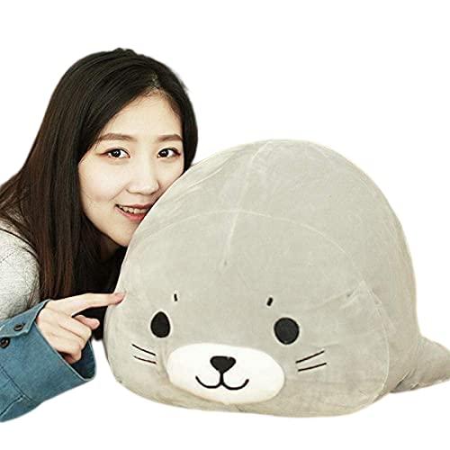 Sea Mundial Animal Lion Lion Muñeca Sello de Peluche de Peluche Pillow Pillow Kids Toys Relleno Chica Cumpleaños 38cm
