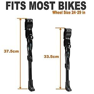 MEXITAL caballetes para Bicicletas, 4cm Altura Ajustable y Durable, Universal Soporte de Bicicleta Aleación de Aluminio Adapta a 24-29 Pulgadas MTB Montaña, Carretera Bicicleta, Plegable Bici