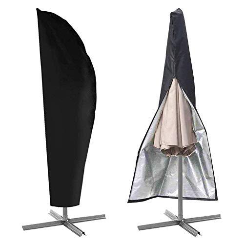 DierCosy - Funda protectora para sombrilla de jardín, cubierta para paraguas exterior de 9 pies, con cremallera, hasta 11 pies