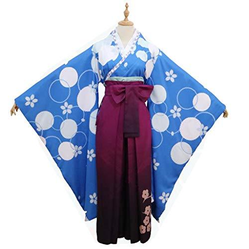 Re: Das Leben In Einer Anderen Welt from Zero Rem Cosplay Kimono Uniformen Cosplay Anime Kostüm-Performance-Bekleidung (Size : S)