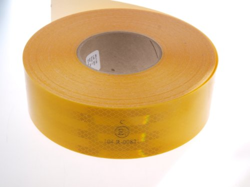 WAMO 1m 3M Reflexfolie Reflexstreifen Konturmarkierung gelb für Festaufbauten