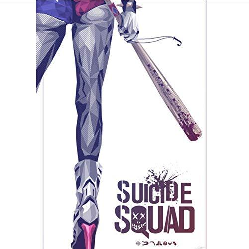 yitiantulong Pintura De Lienzo Moive 2021 Spuer Hero Logo The Suicide Squad 2 Deadshot Joker Harley Quinn Wizard Wizard Póster Arte De Pared T-544 (40X60Cm) Sin Marco
