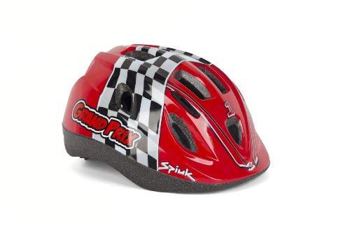 Spiuk Kids - Casco de Ciclismo para niños, Color Rojo, Talla 52-56